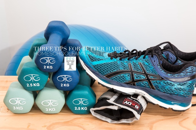 Running shoe and weights